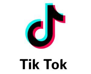Het logo van TikTok